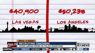 CCSD looks to lure teachers from California - Video