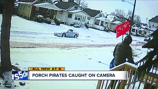 Porch pirates caught on camera - Video