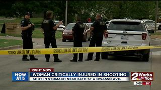 Woman found shot in the stomache - Video