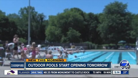 Outdoor pools & teaching kids to swim