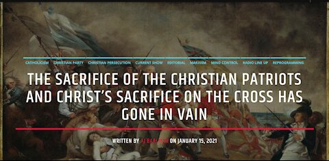 The Sacrifice Of The Christian Patriots Of The American Revolution Have Gone In Vain