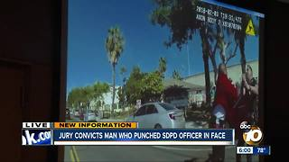 Jury convicts man who punched SDPD officer in face