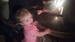 A Tot Girl Gets So Excited Over Her Birthday That She Screams - Video