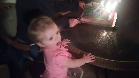 A Tot Girl Gets So Excited Over Her Birthday That She Screams