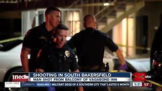 Man shot at Vagabond Inn in South Bakersfield in stable but critical condition - Video