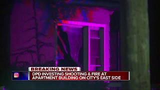 Fire & Shooting on Detroit's East Side - Video