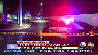 3 people shot overnight near Village Commons in West Palm Beach