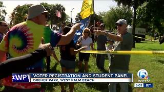Voter registration and student panel held at Dreher Park - Video