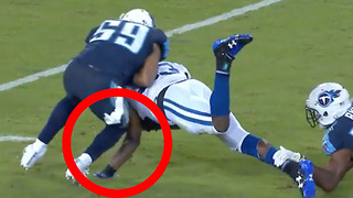 OUCH! Colts RB Robert Turbin Suffers NASTY Arm Injury vs Titans on MNF - Video