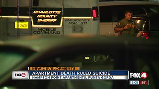 Death Investigation Ruled A Suicide
