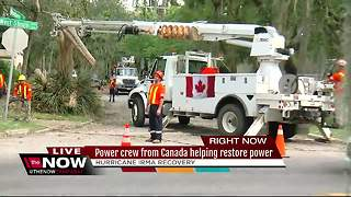Power crew from Canada helping restore power - Video