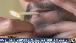 Finalists named for medical marijuana dispensaries - Video