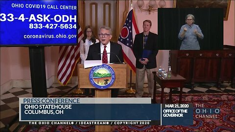 Mike DeWine March 21 update on coronavirus