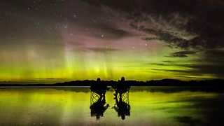 Colours of Aurora Australis Swirl Across Tasmanian Skies - Video