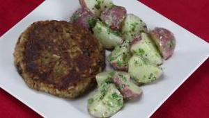 Black Bean Burgers with Mustard Potato Salad - Video