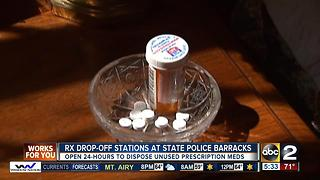 Maryland State Police barracks will be open 24 hours to collect prescription medications - Video