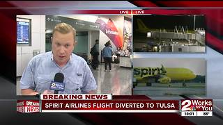 Spirit Airlines flight diverted to Tulsa - Video