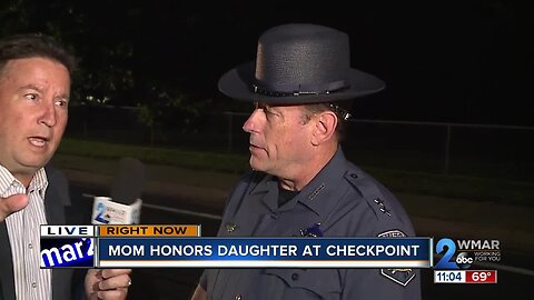 Mother honors daughter at sobriety checkpoint in Harford County