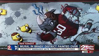 Brady District mural wiped away - Video