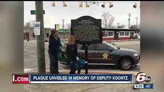 Memorial sign unveiled for fallen Howard County Deputy Carl Koontz in Russiaville - Video