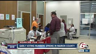 Early voting turnout way up in Marion County for 2018 - Video