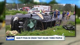 Guilty plea in crash that killed three people