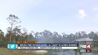 Brush Fire Threatens Multiple Homes in North Fort Myers - Video