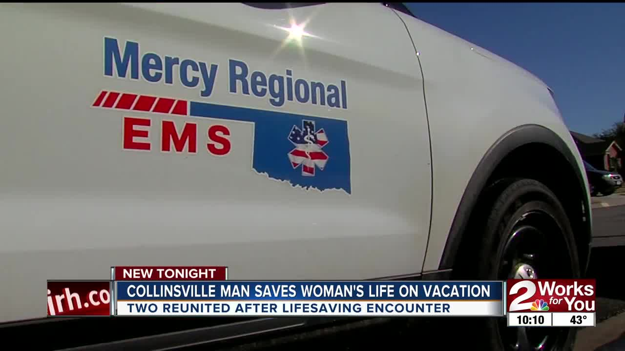 Collinsville man reunited with woman whose life he saved