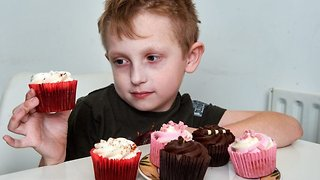 Desperate mum fundraises £50k to fulfil son's lifelong dream to try cupcake for first time