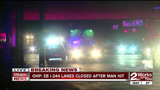 OHP investigating after person ran over near I-244 & Garnett