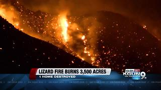 Lizard Fire evacuee describes moments he was asked to leave home - Video
