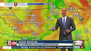 Heat Warning and a rain chance for Kern County! - Video