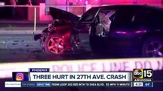 Serious crash blocks 27th Avenue and Campbell - Video