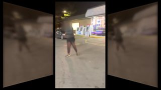 Caught on camera: Wild brawl at an Akron gas station
