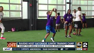 Baltimore Ravens inspire youth with Gatorade Junior Training Camp - Video