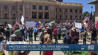 Protesters push to re-open Arizona