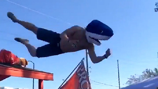 Drunk Browns Fan Goes for Table Dive, Gets Nothing But Pavement - Video