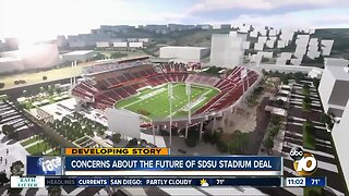 Concerns about the future of SDSU stadium deal