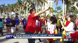 Palm Beach County Heart Walk held in West Palm Beach - Video