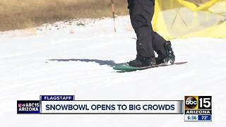 Snowbowl opens to big crowds - Video