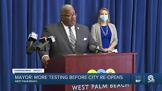 West Palm Beach mayor makes plea for more testing kits
