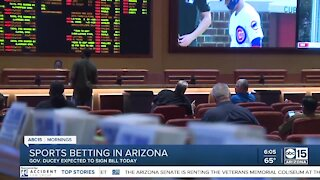 Gov. Ducey expected to sign Arizona sports betting bill