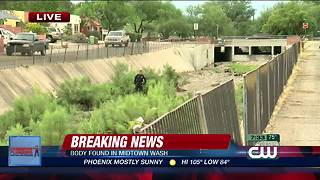 Tucson police investigate body found in midtown wash