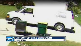 Attempted child enticement in Oak Creek - Video