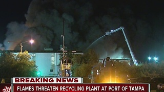 2-Alarm fire burning near Port of Tampa - Video