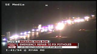 Emergency road repair to cause backups into the morning - Video