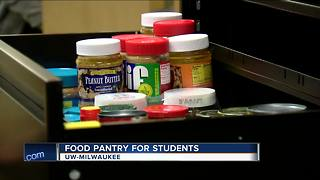UWM starts a food pantry for hungry students - Video