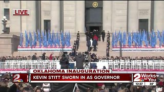 Kevin Stitt sworn in as governor