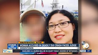 Woman accused in deadly DUI crash faces judge - Video