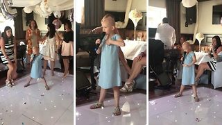 Little Girl Suffering From Kidney Cancer Sings 'Fight Song' At A Wedding